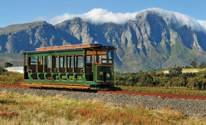 All aboard the Franschhoek Wine Tram