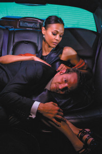 Zoë-Saldana-and-Bradley-Cooper-in-'The-Words'