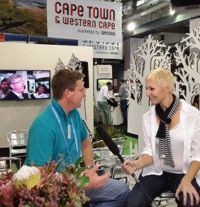 Nils Flaaten talks to Liezel V at Indaba 2014