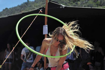 World hoop day at Wild Clover Farm.