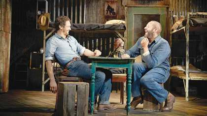 Broadway production of 'Of Mice and Men' on screen