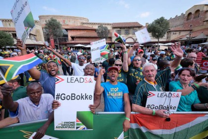 It's Green & Gold all the way as World Cup fever hits Gauteng