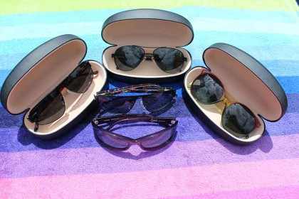 A pair of classic sunglasses by Carducci is ideal to complete his look