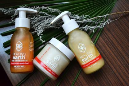 Healing Earth facial care range