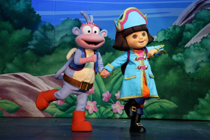 Watch Dora the Explorer materialise in the live setting at the Grand Arena