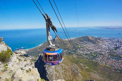 Free things for tourists to enjoy at the Table Mountain Cableway:
