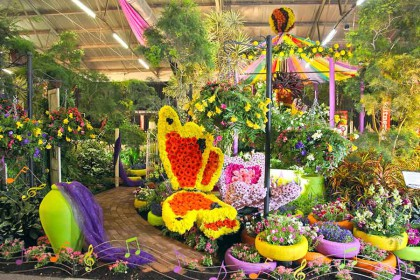 Step into a flowery fantasy world at Witness Garden Show