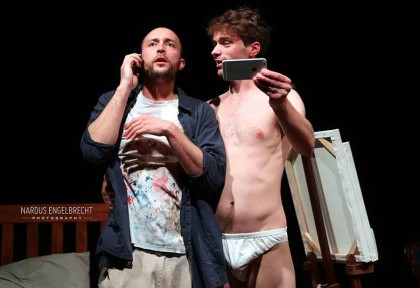 Andrew Laubscher and David Viviers in 'The Finkelsteins are Coming to Dinner'