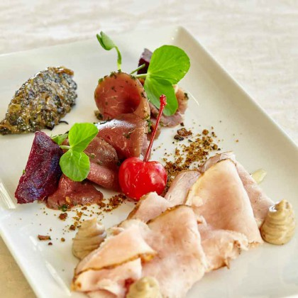 Cured fillet of beef & gammon, by Jade Sullaphen of Punchinello's at Southern Sun Montecasino