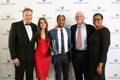 The Tsogo Sun Entrepreneur of the Year winner announced