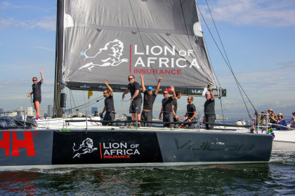 SA boat Lion of Africa Vulcan takes third at Cape2Rio