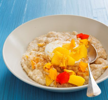 Start your day with a luscious mango breakfast dish