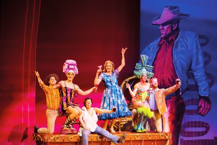 Candice von Litsenborgh as Shirley (third from left) in a scene from Priscilla Queen of the Desert nowon at Artscape Theatre in Cape Town.