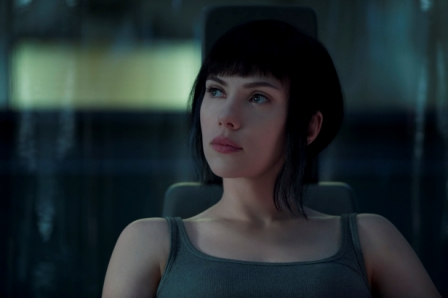 Scarlett Johansson  in Ghost in the Shell in cinemas this week.