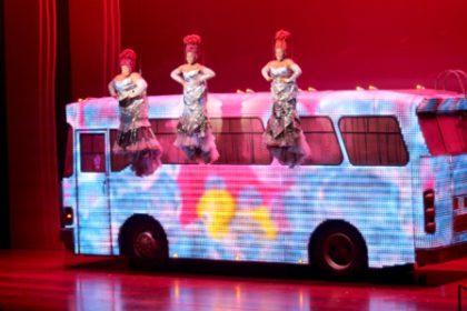 The Divas and Priscilla on stage at Artscape Theatre in Cape Town.