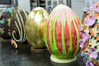 The sensational Easter Egg display at the Table Hotel.