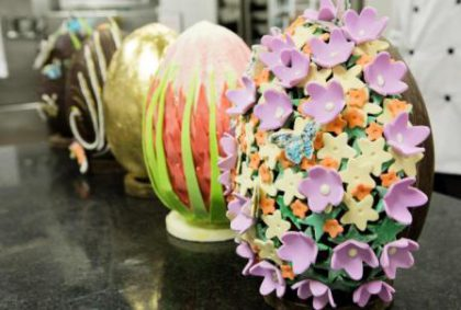 25 masterpieces by Chef Bobby's Easter Egg display at the Table Hotel.