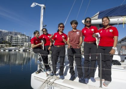 All Indian Women Crew Sail into Cape Town as They Circumnavigate The World