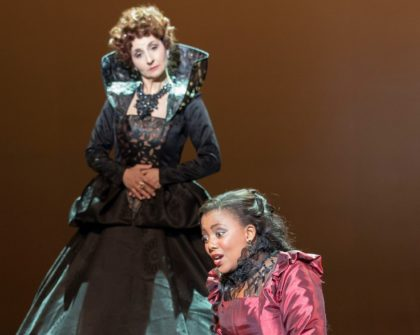 Violina Anguelov and Vuvu Mpofu, seen here in the 2015 production of Maria Stuarda, return