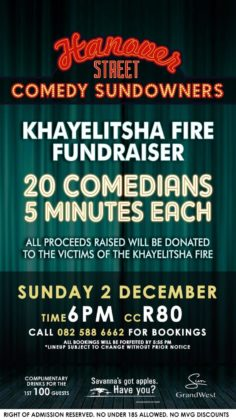 20 Comedians get 5 minutes each at Comedy Sundowners