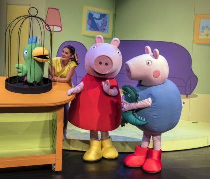 Peppa Pig Show for the kiddies at the V&A Amphitheare